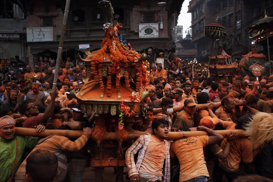 Nepalese devotees participate