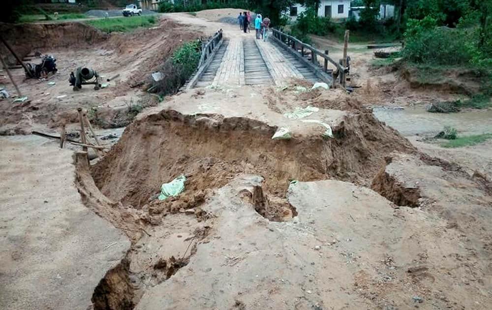 Heavy rain in Meghalaya