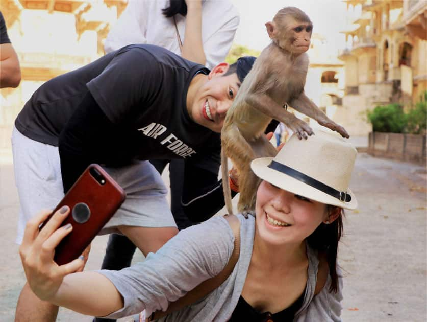 Tourists in Jaipur