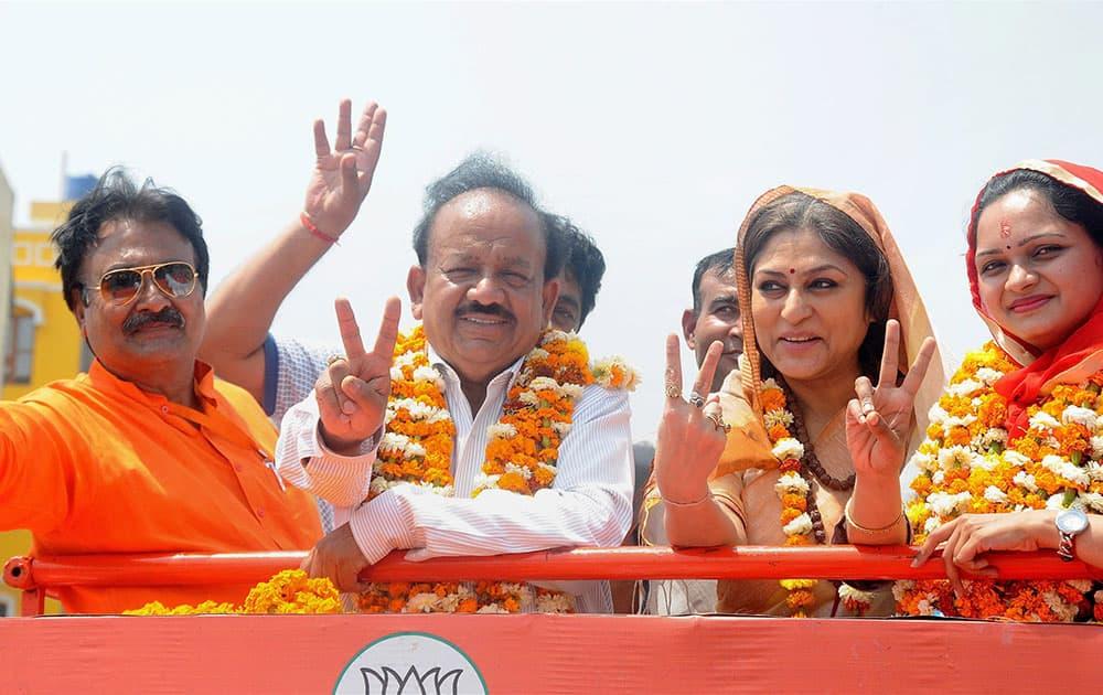 BJP Road Show in New Delhi