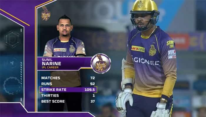 WATCH: 42 runs off just 17 balls! Sunil Naraine makes KKR