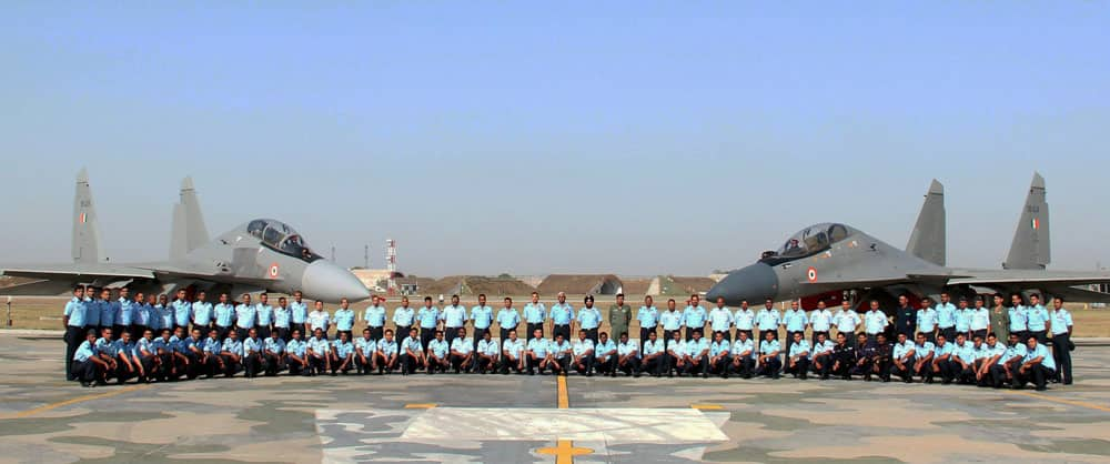 SU-30 MKI aircraft being inducted