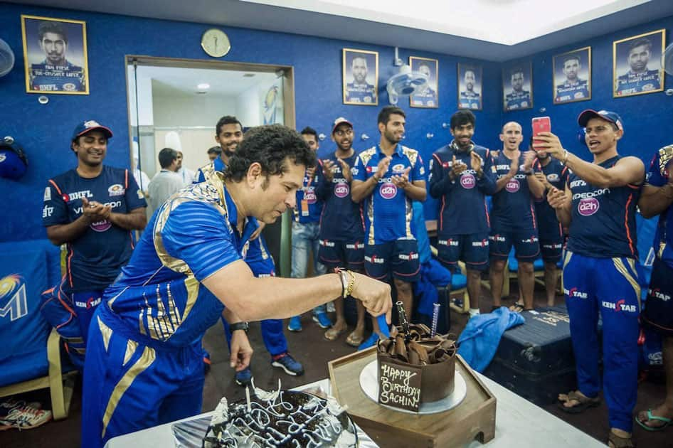 Sachin's birthday celebrations