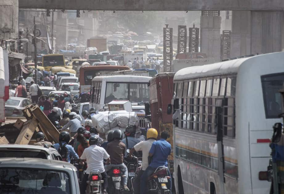 Traffic Jam in New Delhi