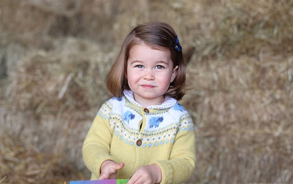 The Duke and Duchess are delighted to share a new photograph of Princess Charlotte