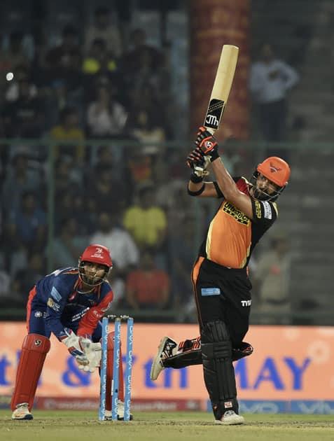 Yuvraj Singh plays a shot
