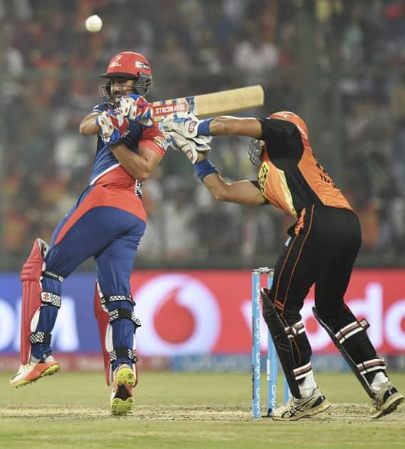 Karun Nair plays a shot