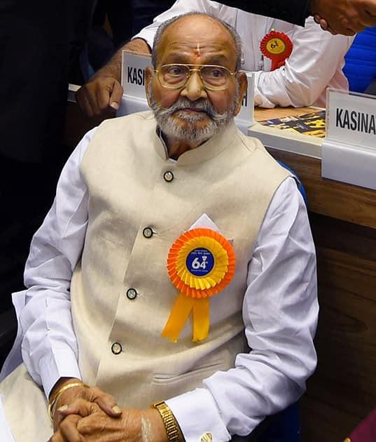 Dadasaheb Phalke Award winner veteran Telugu filmmaker K Vishwanath at the 64th National Film Awards function