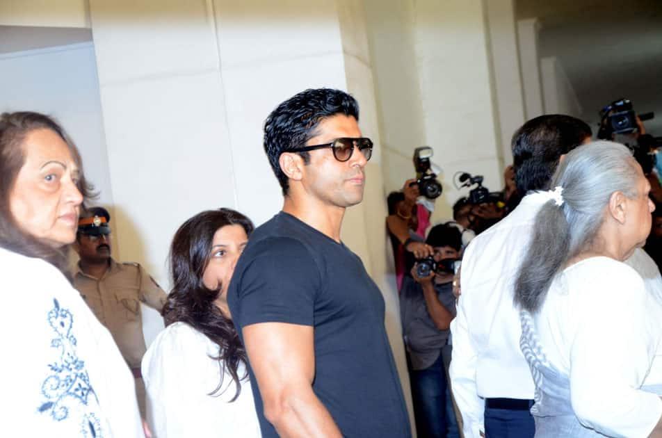 Actor Farhan Akhtar arrives