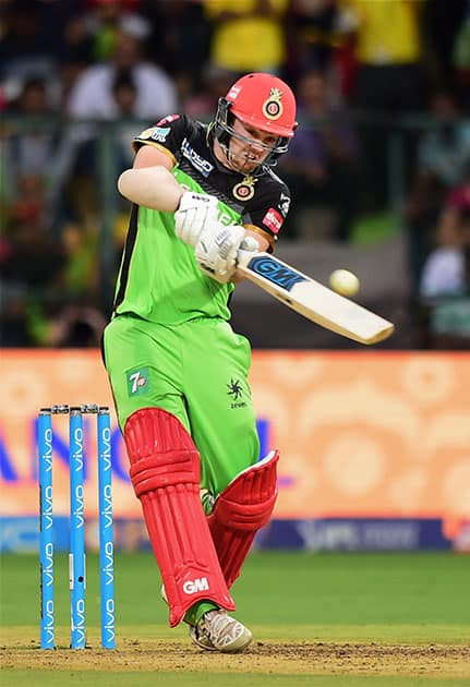 Travis Head plays a shot during the IPL match