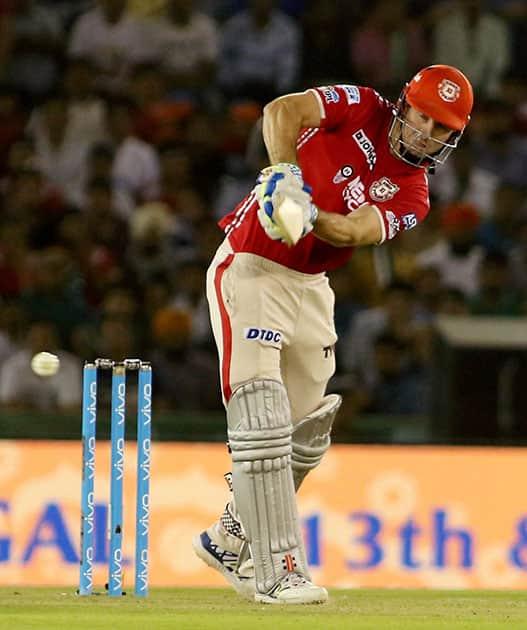 Shaun Marsh of Kings XI Punjab plays a shot during the IPL match