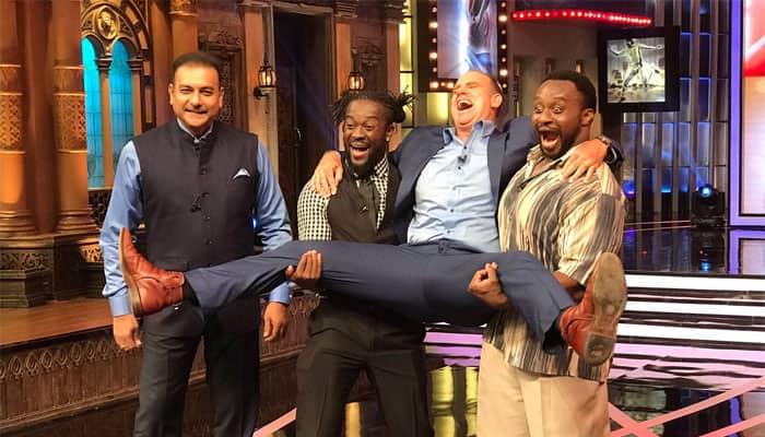 WATCH: WWE stars Kofi Kingston, Big E rock in IPL's crossover episode