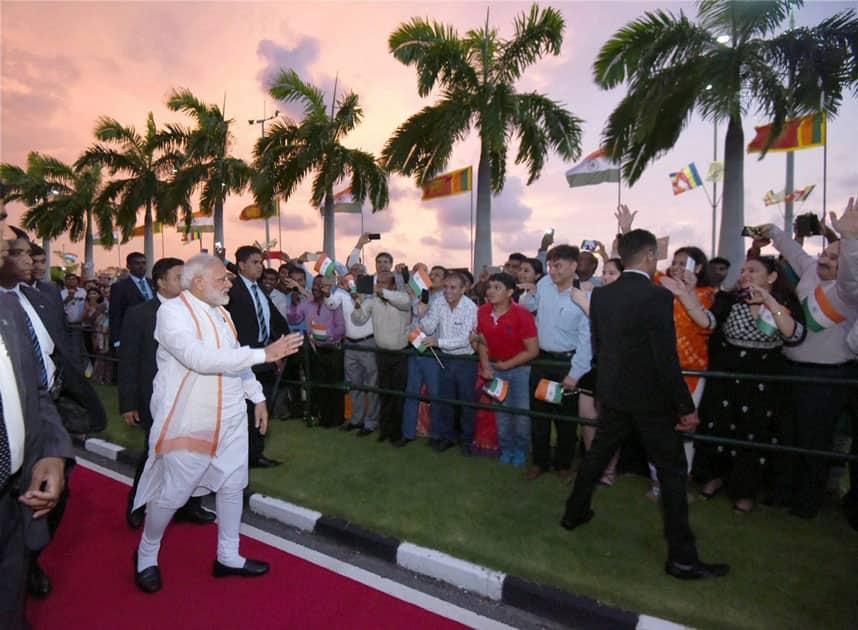 Prime Minister Narendra Modi departure from Colombo