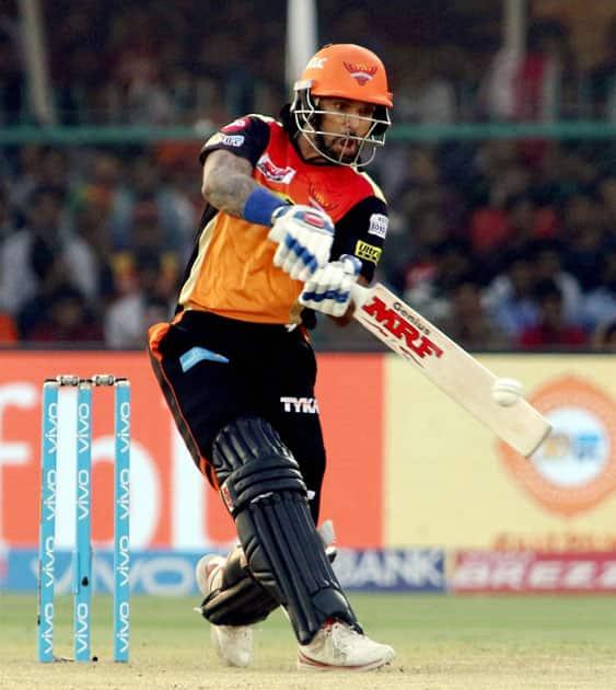 Shikhar Dhawan plays a shot