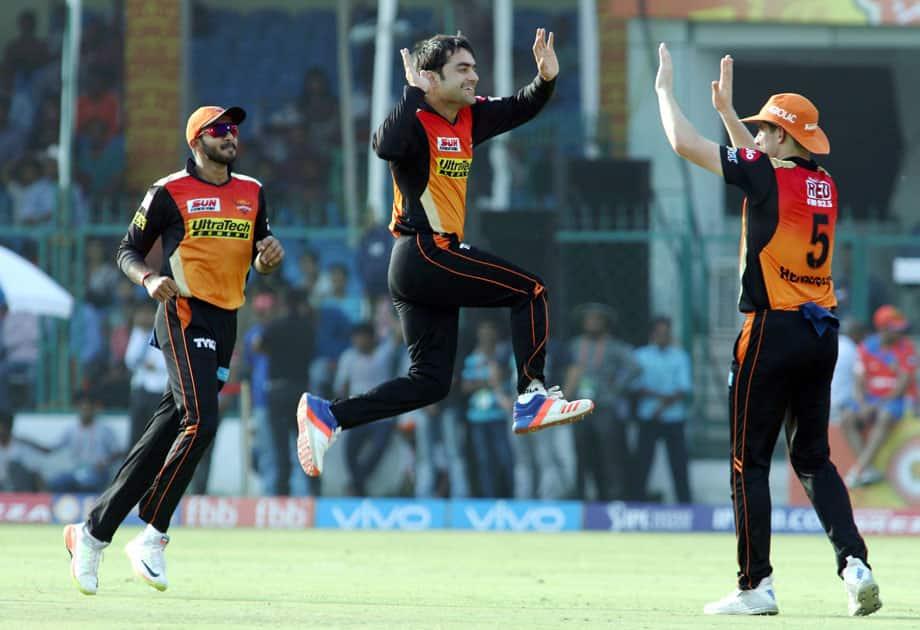 Sunrisers Hyderabad players celebrates