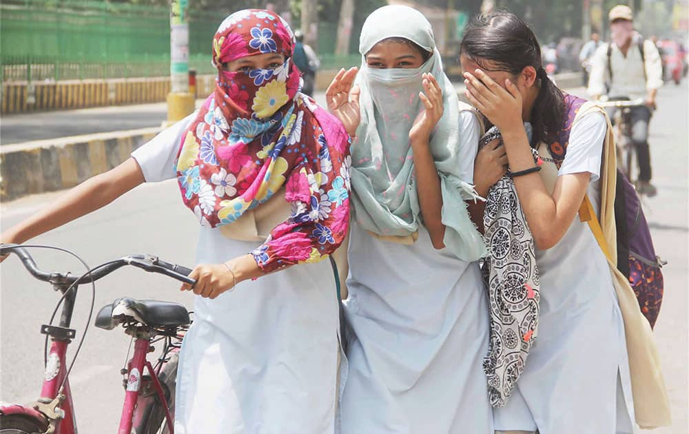 Scorching heat in Allahabad