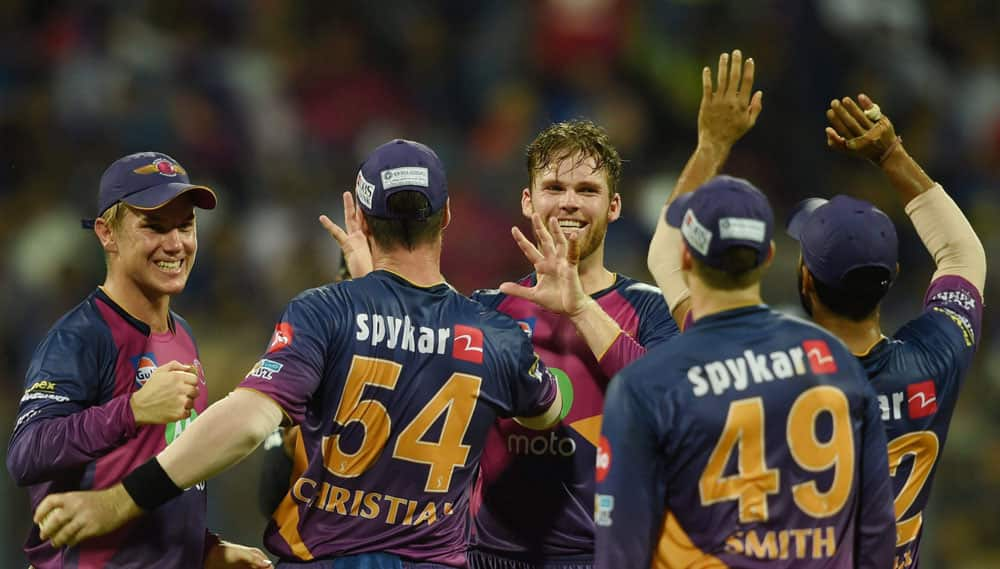 Washington Sundar celebrates the wicket of Ambati Rayudu