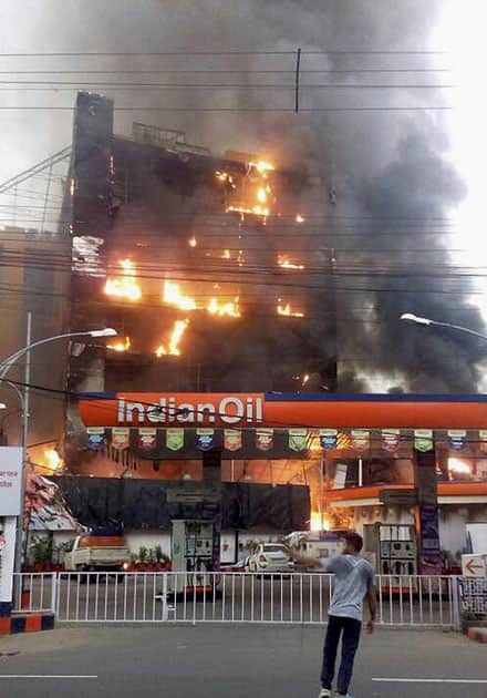 Fire in Patna mall