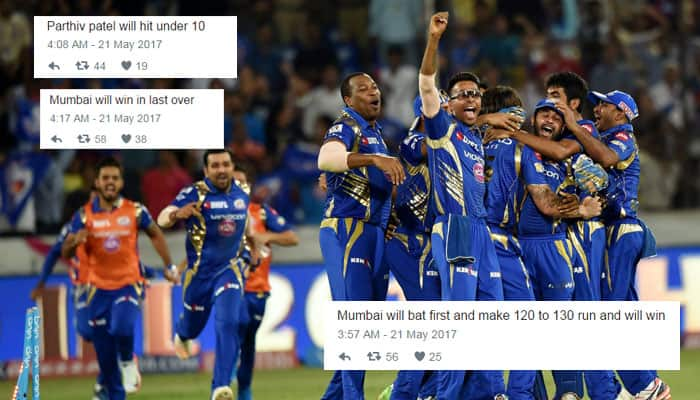 IPL 2017 Final, RPS vs MI: This Twitter user predicted every detail of Sunday finale, got 8 out of 9 right