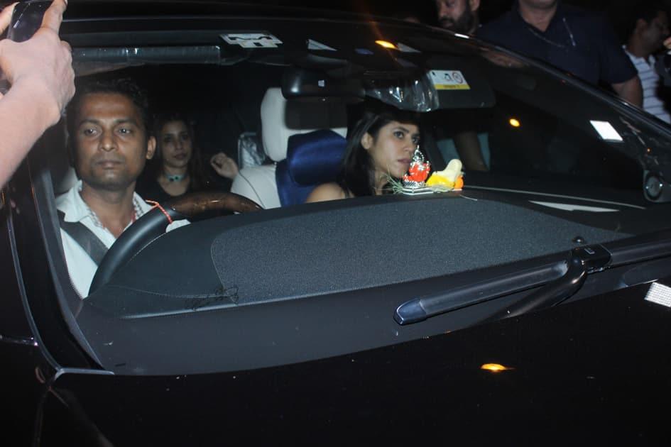 Ekta Kapoor during Karan Johar`s 45th birthday party