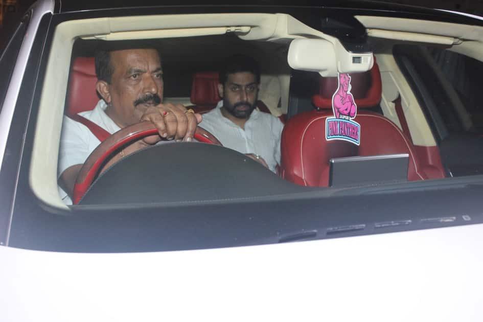 Abhishek Bachchan during Karan Johar`s 45th birthday party