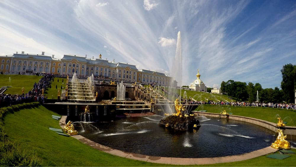 Samson Fountain at Peterhof Palace, Saint Petersburg, Russia