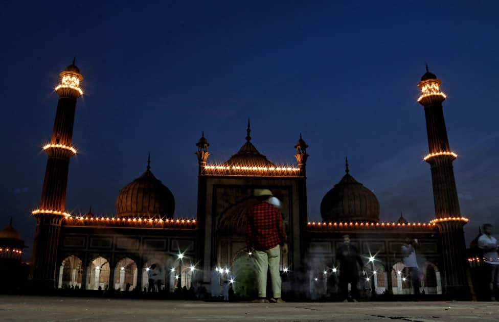 A view of Jama Masjid on the eve of Ramadan
