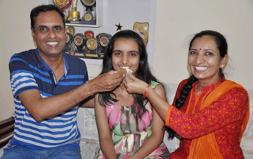 Bhoomi Sawant who ranked 2nd in CBSE 12th class examination