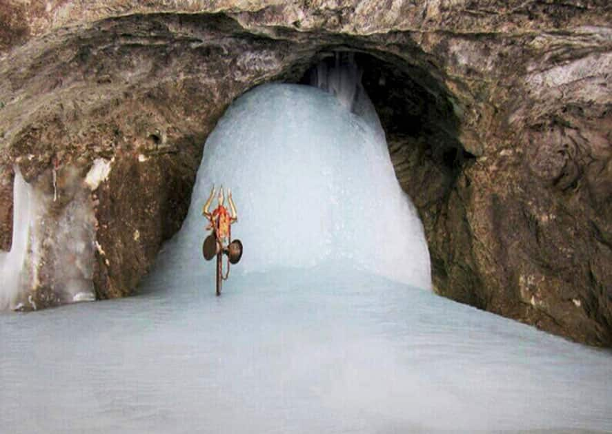 Ice-Shiva lingam at Amarnath
