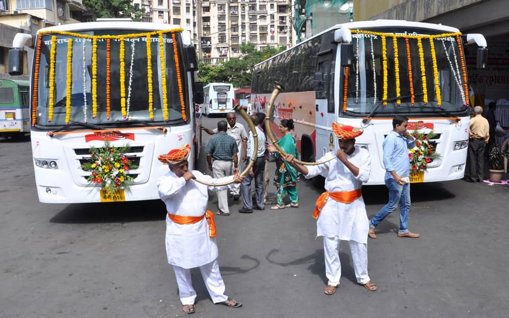 luxury buses `Shivshahi launched at Mumbai Central Depot