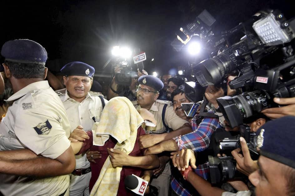 Bihar board topper Ganesh Kumar being arrested