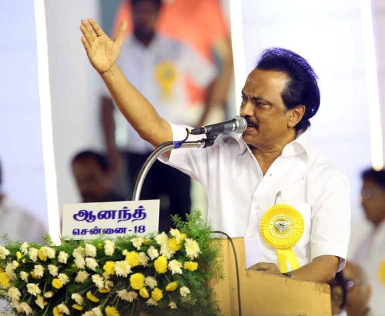 DMK chief Karunanidhi's celebrates his 94th birthday