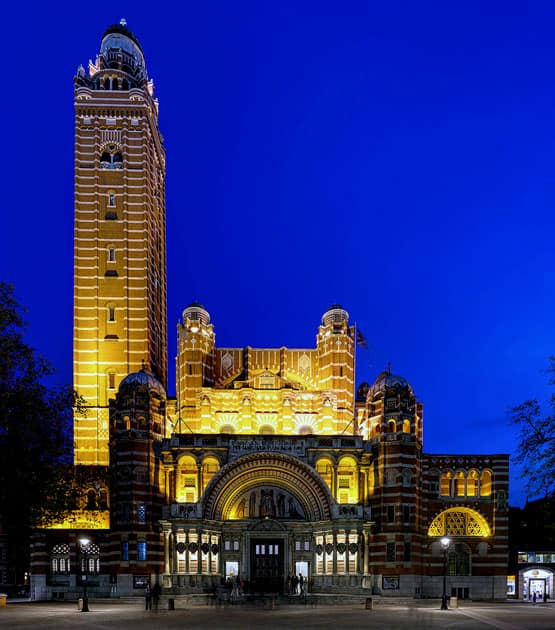 The Campanile Bell Tower of Westminster Cathedral, London, United Kingdom