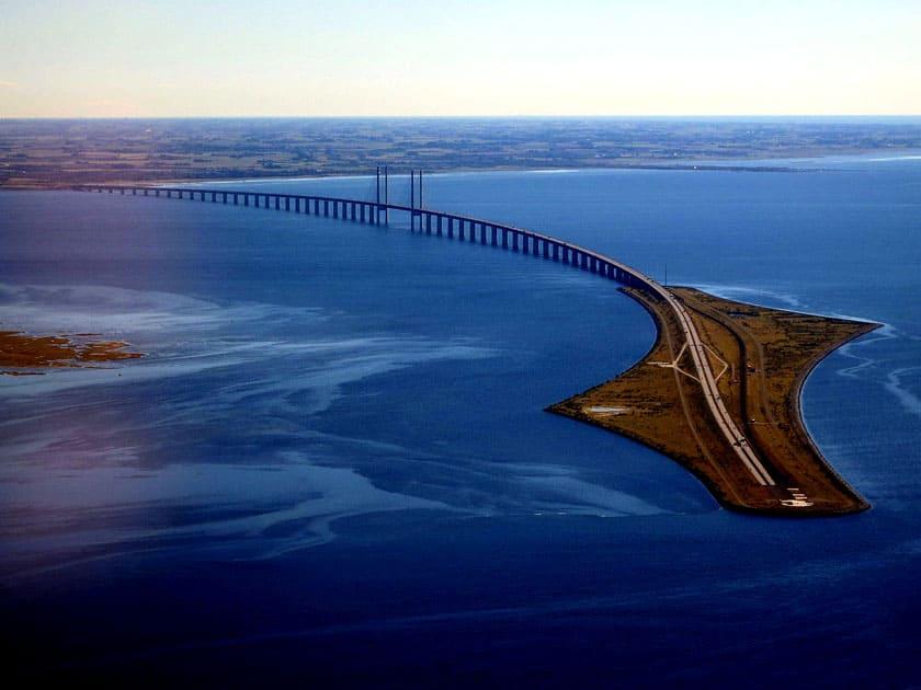 Øresund Bridge – Denmark and Sweden border