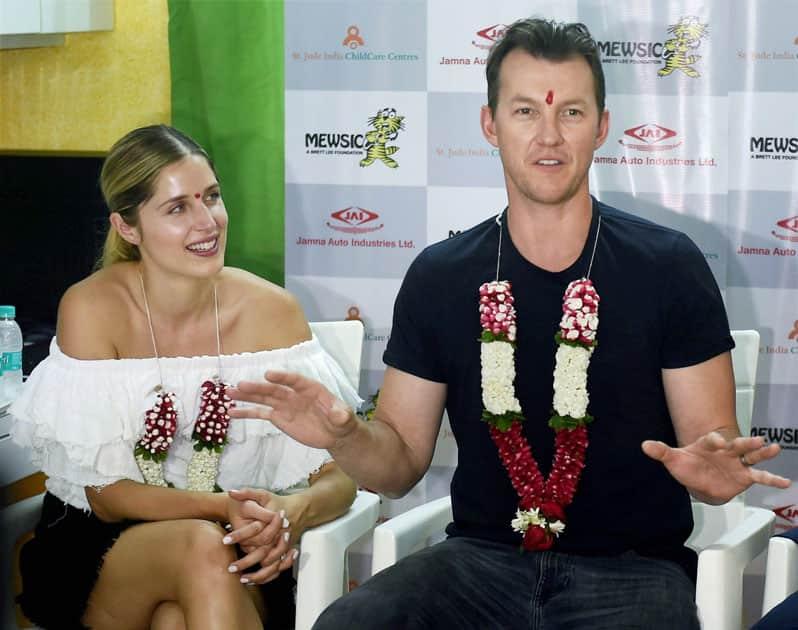 Brett Lee in Mumbai