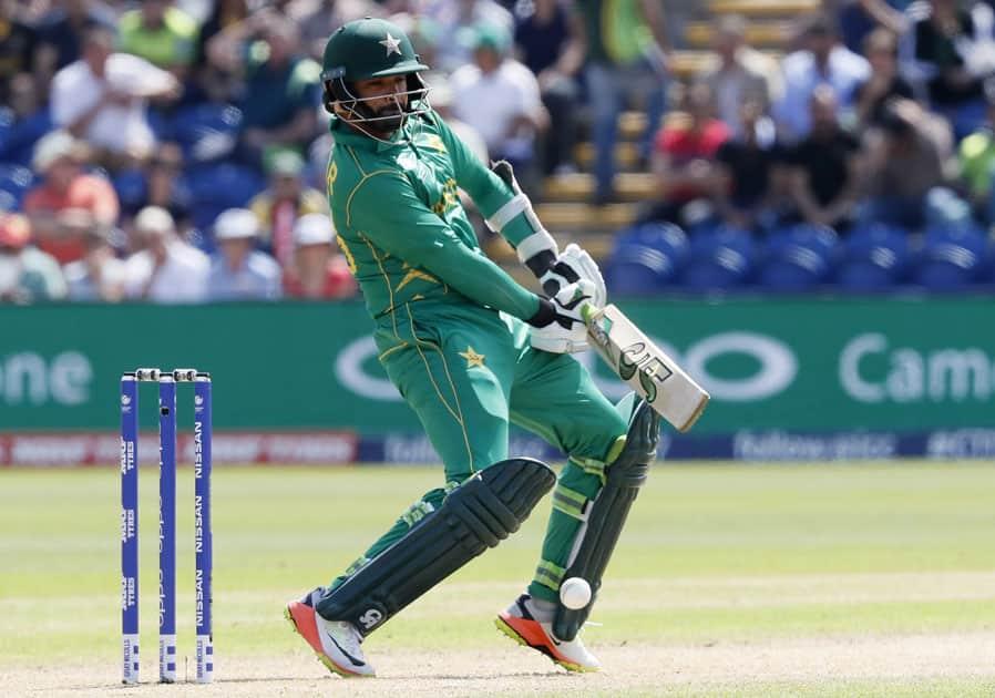 Pakistans Azhar Ali plays a shot