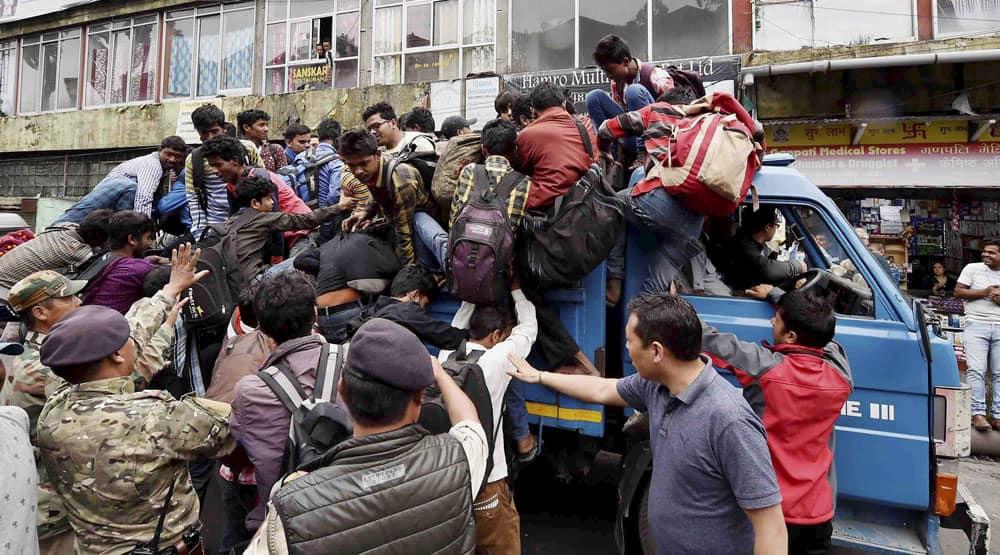 GJM strike in Darjeeling