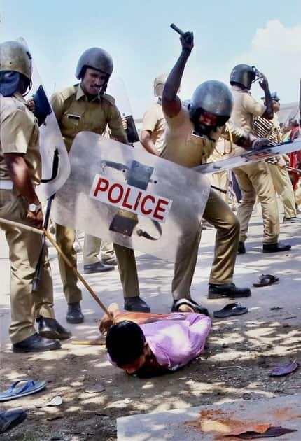 Protest in Kochi