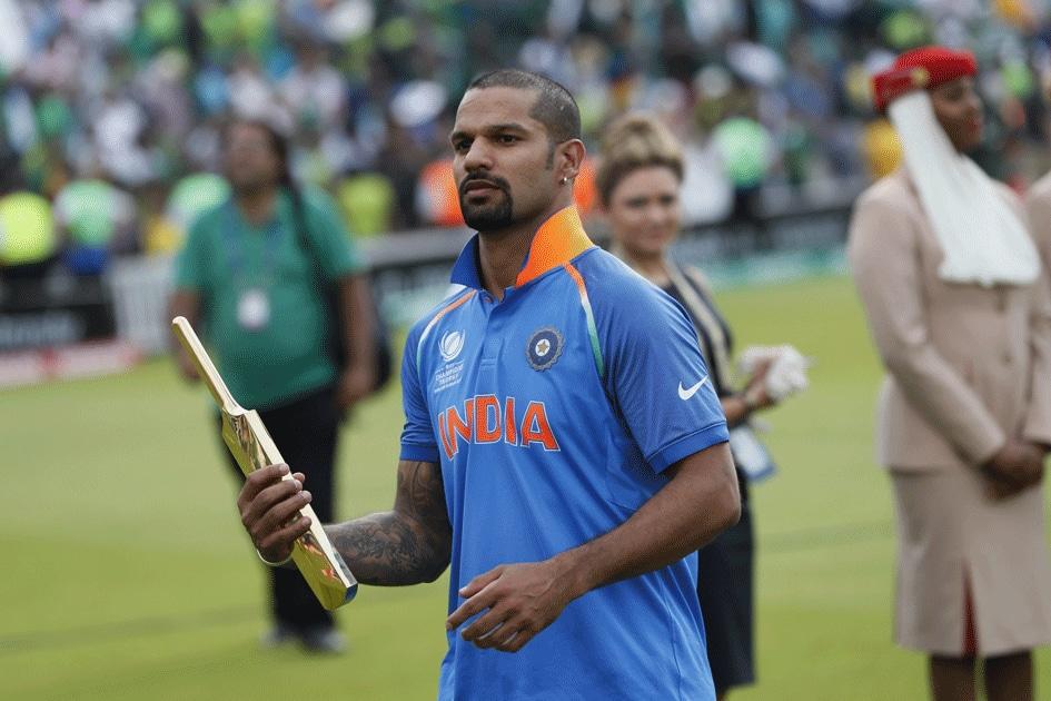 Indias Shikhar Dhawan carries the golden bating award