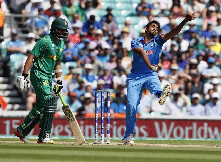 Indias Jasprit Bumrah bowls