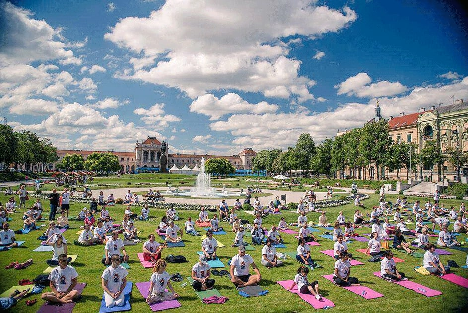 International Yoga Day in Croatia