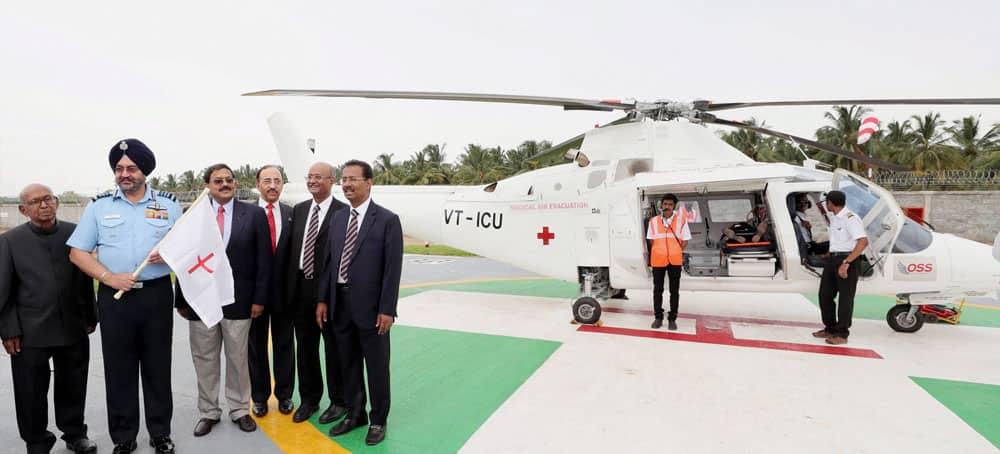 Hospital-base air-ambulance launch