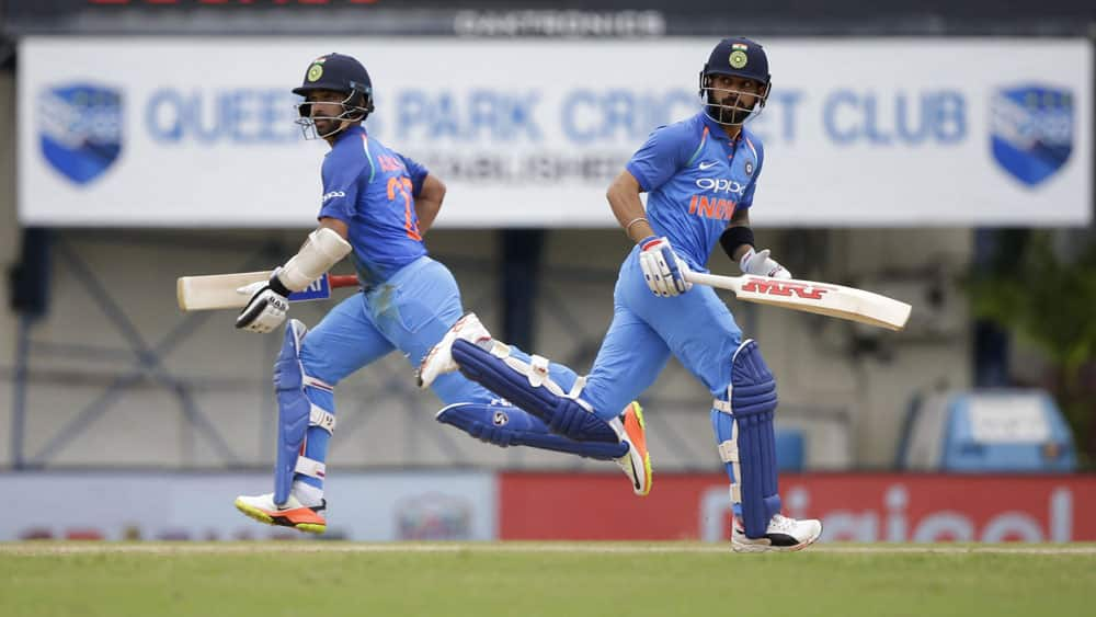 Captain Virat Kohli and Ajinka Rahane build up their partnership