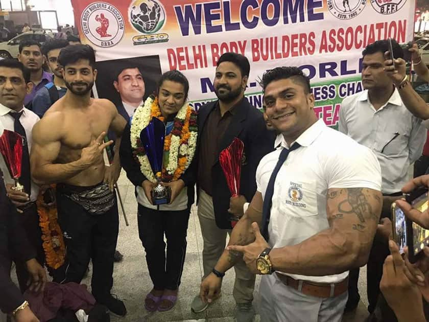 Bhumika Sharma wins Miss World Bodybuilding Title