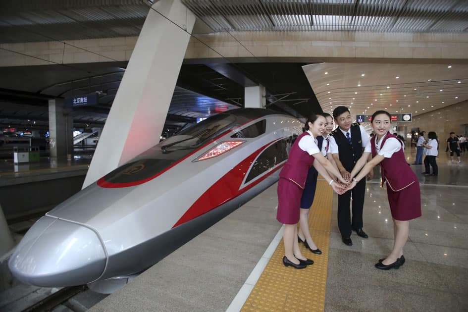 Chinas latest high speed train capable of reaching 400kph