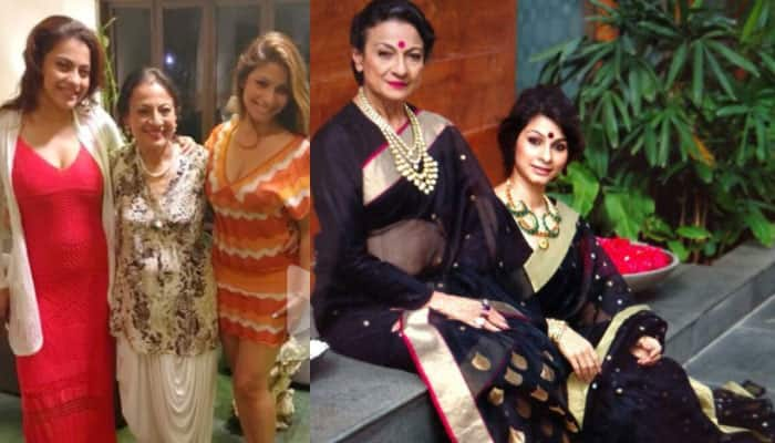Tanishaa Mukerji's picture perfect frame with mommy Tanuja and sister Kajol is all about loving your family!