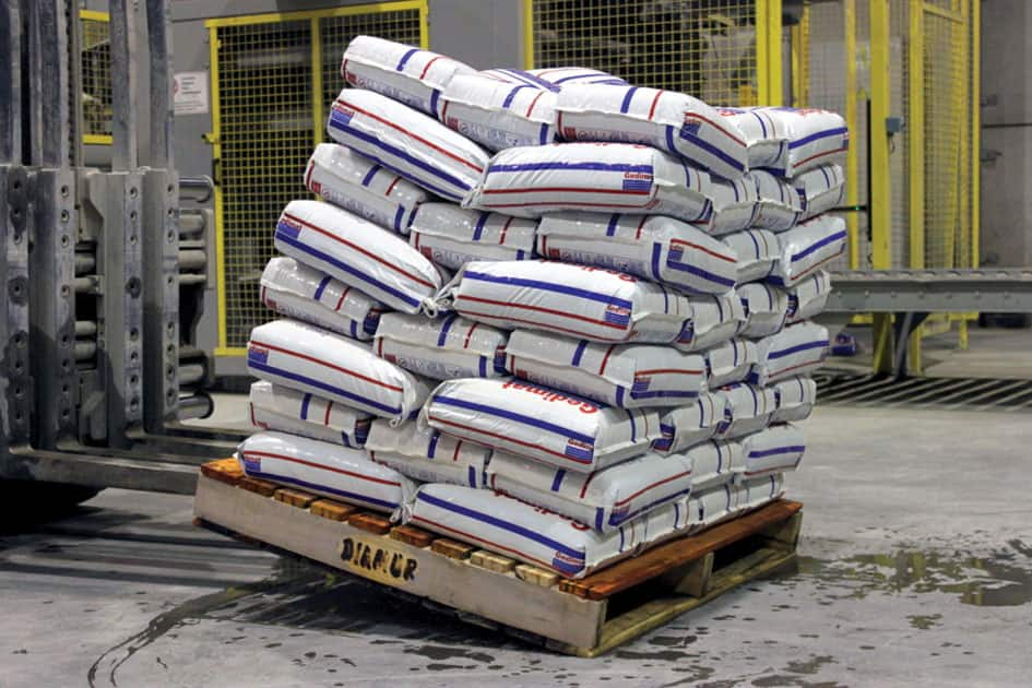 Packaged cement