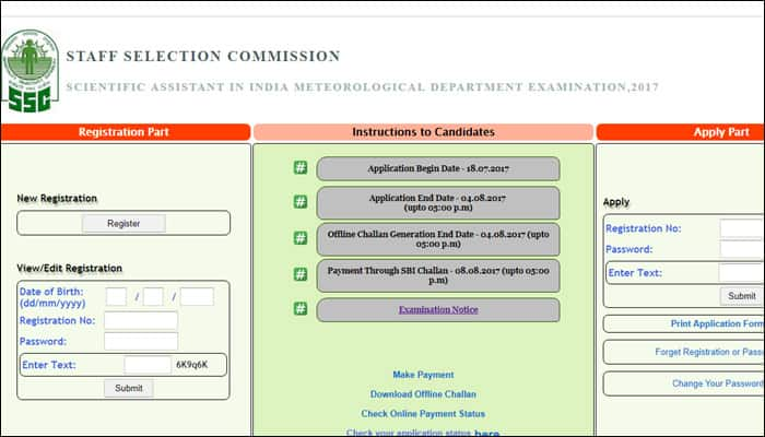 1100 jobs in IMD: SSC Scientific Assistants Recruitment 2017; check ssconline.nic.in