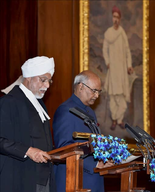 Chief Justice of India, Justice JS Khehar administers oath of office