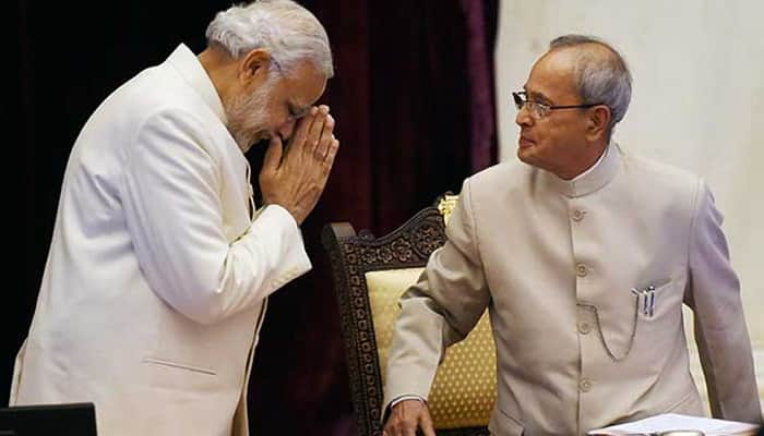 Here's what PM Narendra Modi wrote to Pranab Mukherjee on his last day in office as President